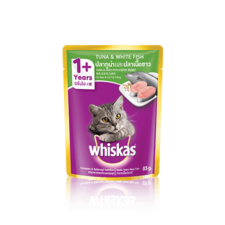 Whiskas Wet Adult Tuna White Fish 85gr