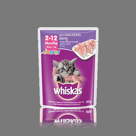Whiskas Wet Junior Mackerel 85gr